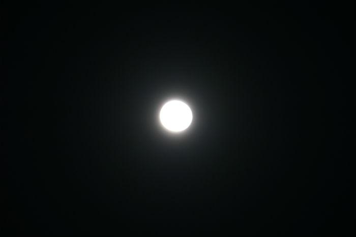 電球のようなお月様