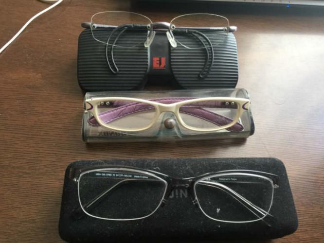 メガネ3種類