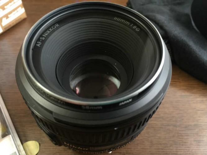 AF-S NIKKOR 50mm f18G用レンズ面