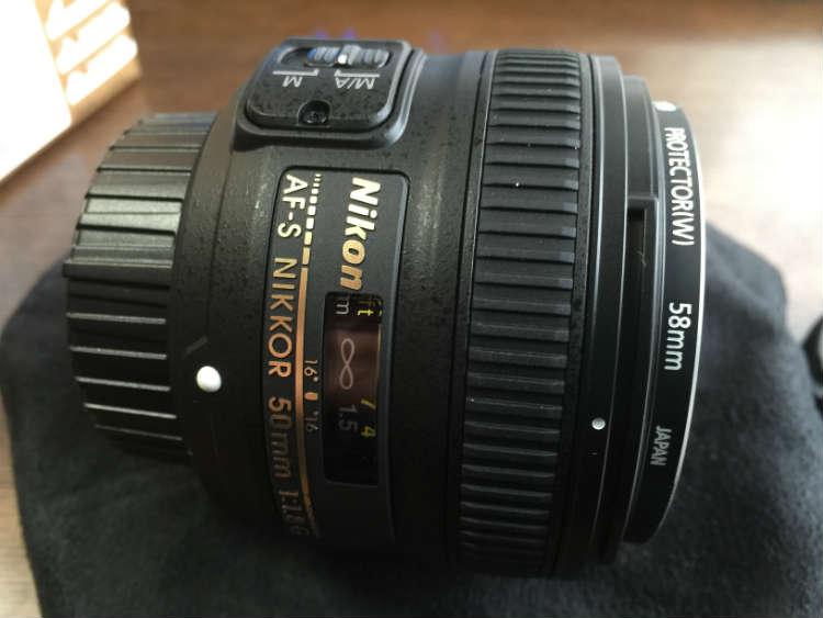 AF-S NIKKOR 50mm f18G用レンズ側面