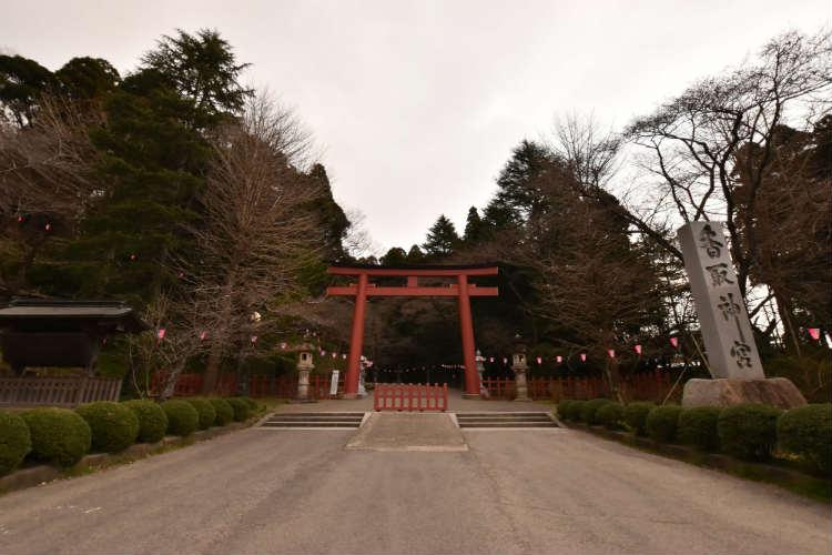 香取神宮の鳥居に到着