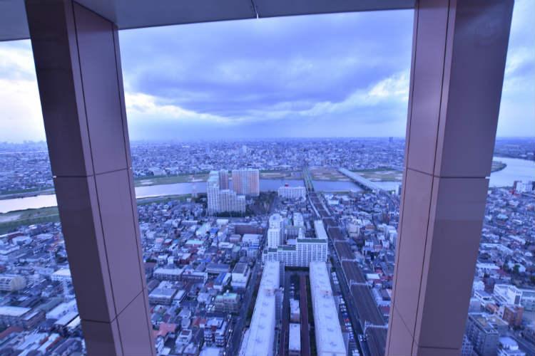 千葉県市川市のアイリンクタウン展望室