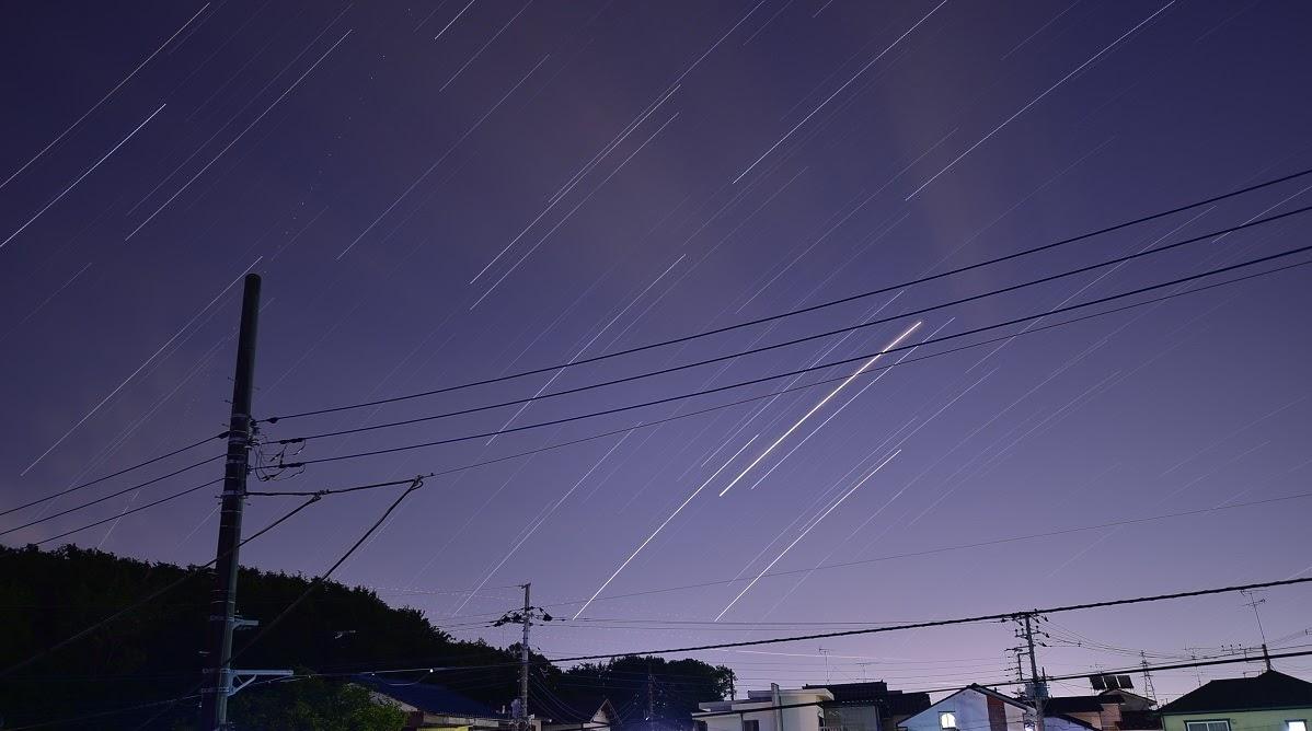 初めての星グルグル撮影と比較明合成