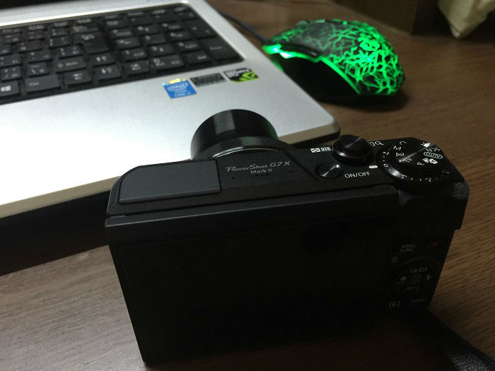 ちなみにカメラはこんな感じで置いてあるだけ