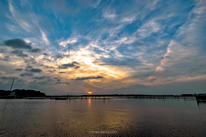 広角レンズで雲を広く撮る