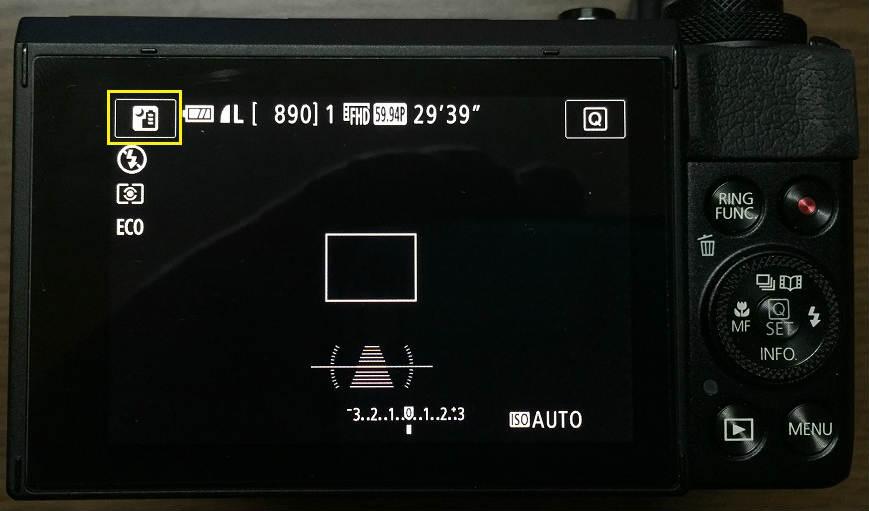 G7Xmark2の画面左上のマーク