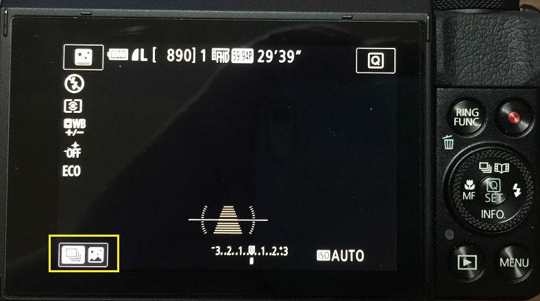 G7Xmark2の星空撮影のモード切替