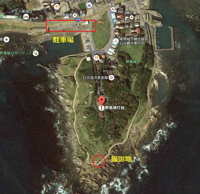 野島崎灯台の天の川撮影地