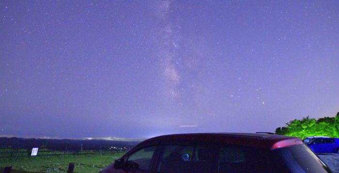 鹿野山九十九谷で天の川撮影