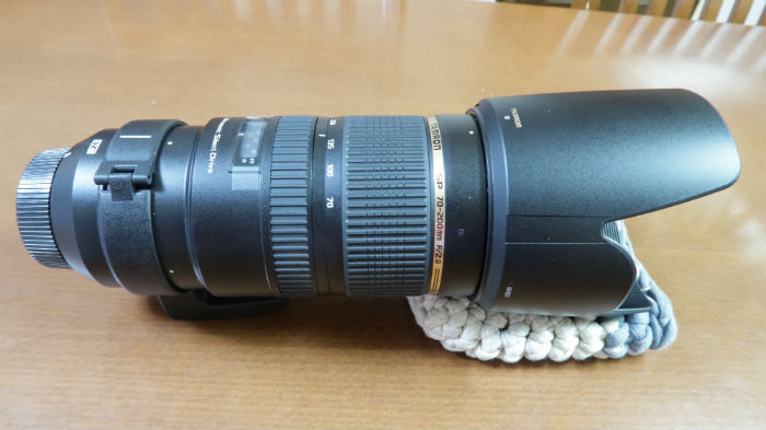 SP70-200mm F2.8 Di VC USDを横から