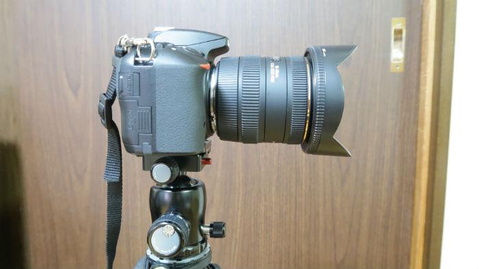 K-20Xにカメラを設置してみた