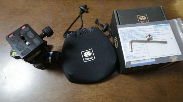 SIRUI自由雲台K-20Xを箱から取り出した