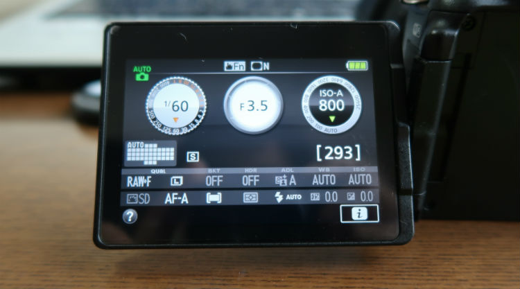 AUTO時の液晶画面表示