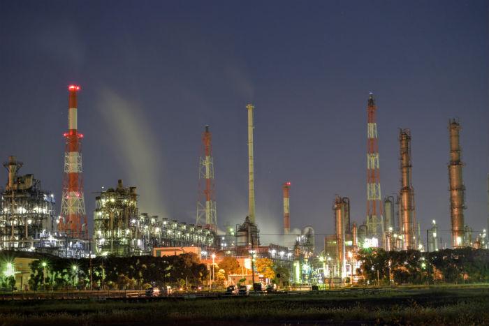養老臨海公園の工場夜景B方面
