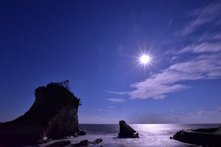 雀島の砂浜から撮影