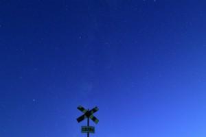 いすみ鉄道と天の川