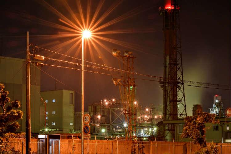 千鳥町工場夜景の周り