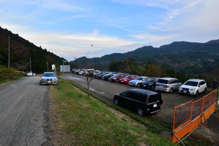 千枚田の駐車場