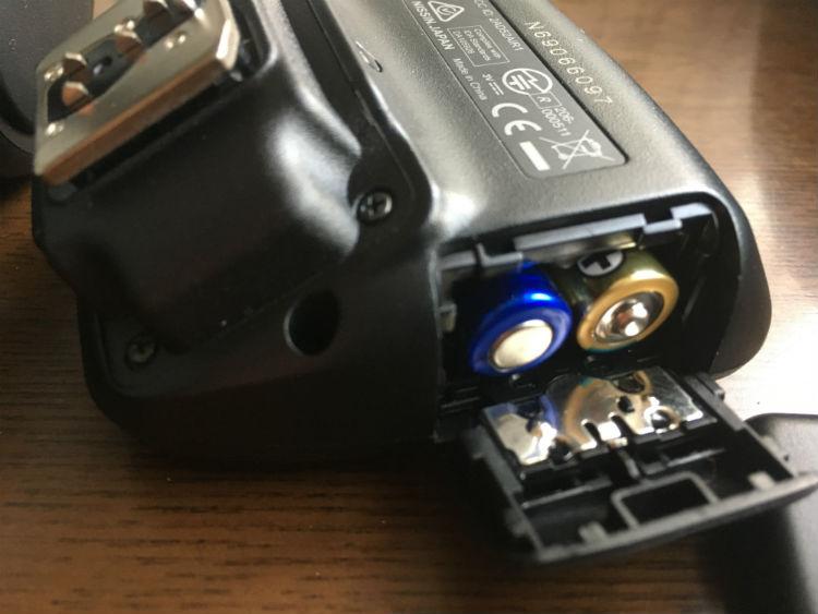 ニッシンAir1は単4電池2本