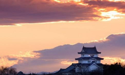 夕景の関宿城