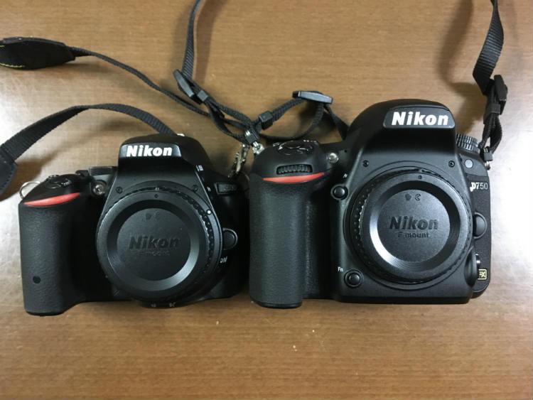 D5500とD750正面比較