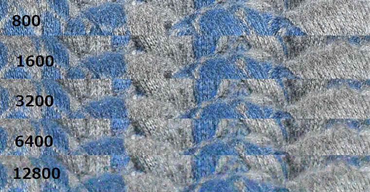編み物ISO比較D5500