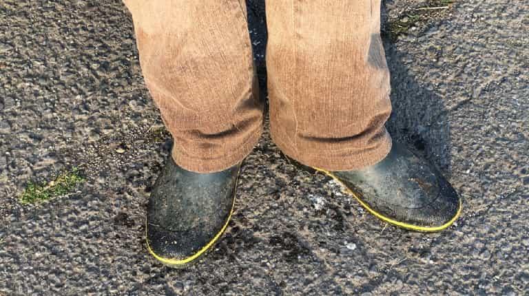 長靴はちゃんと履く