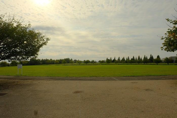 牧の原公園の駐車場から