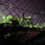 工場夜景を撮影した