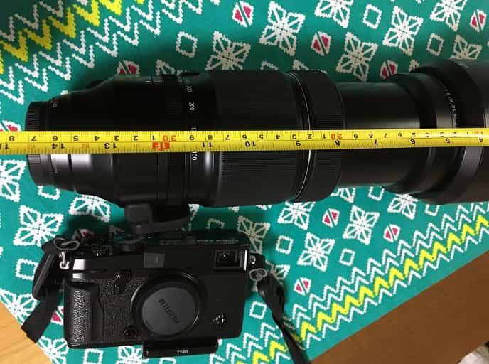 XF100-400mmF4.5-5.6 R LM OIS WRの長さ