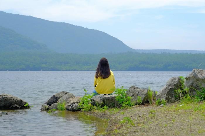西湖と次女