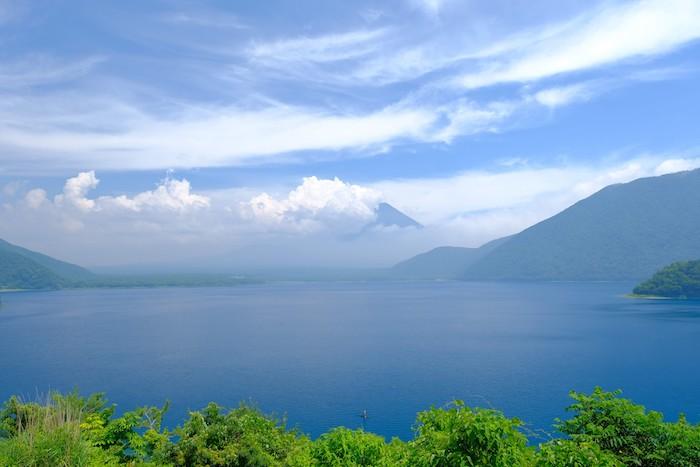 本栖湖からの富士山撮影地