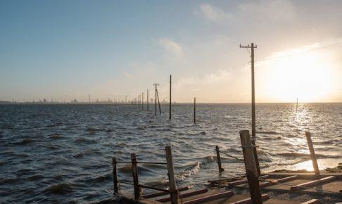 江川海岸の波
